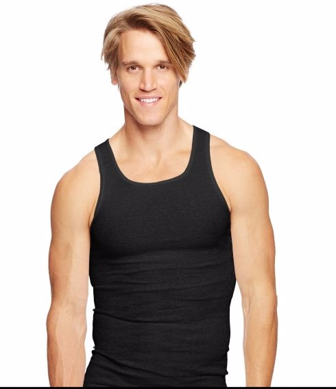 Hanes Ultimate Men's Dyed Tank Undershirt
